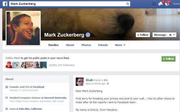 Hacker hackt FB-account van Mark Zuckerberg