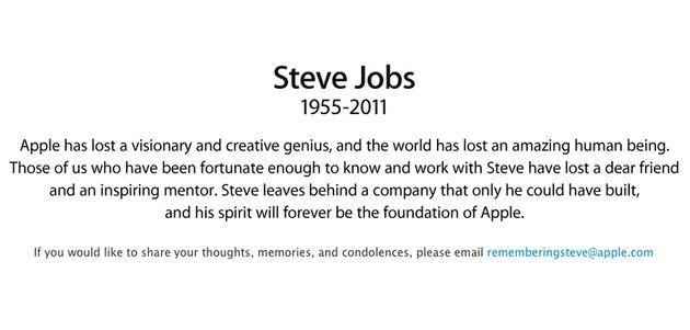 Heel de wereld rouwt om het overlijden van Steve Jobs