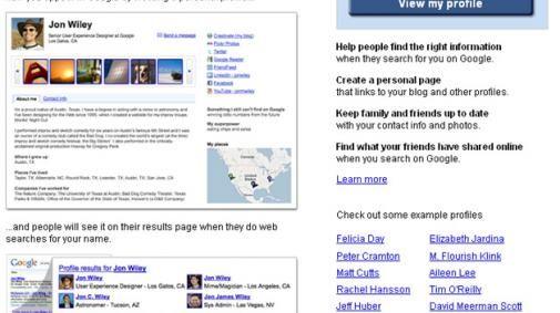 Het ontbreken van search op de Google Profile pagina werkt Buzz tegen