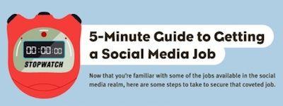 Hoe krijg je een Social Media baan in 5 minuten [Infographic]