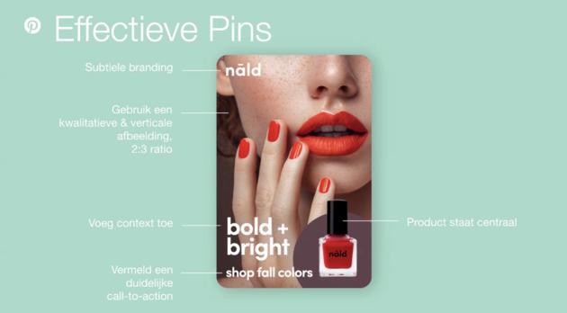 Hoe ziet een effectieve pin eruit - bron Pinterest