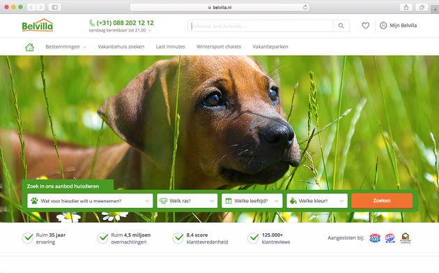 Huur_een_huisdier_service_website_Belvilla_vakantiehuizen