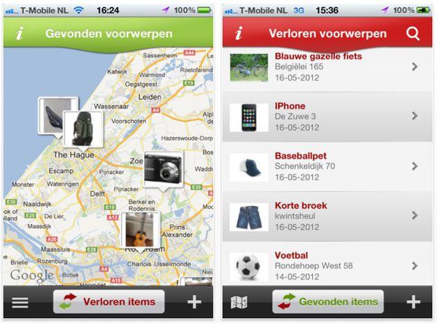 iLost app voor gevonden en verloren voorwerpen