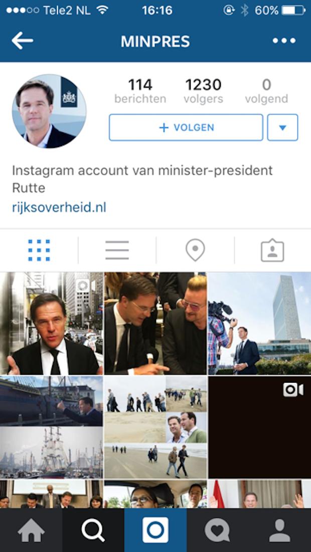 MarkRutte_instagramaccount