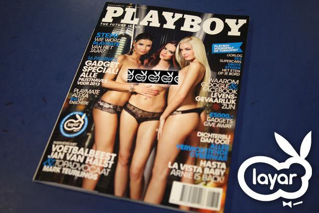 In samenwerking met Layar is de eerste interactieve Playboy beschikbaar