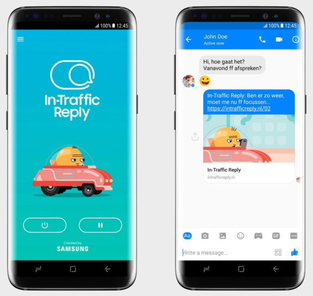 In-Traffic Reply App Samsung