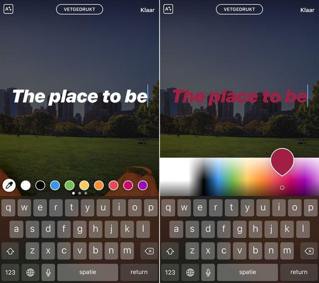 Instagram-story-eigen-kleur-maken