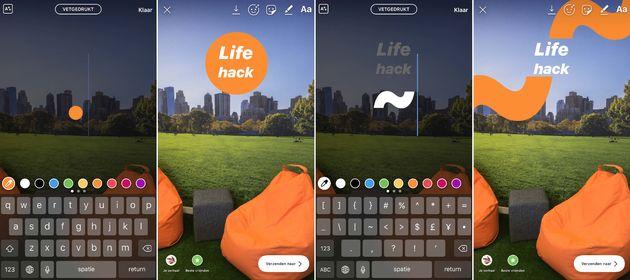 Instagram-story-toetsenbord-hacks