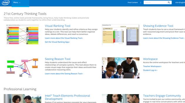 Intel Education free teaching tools