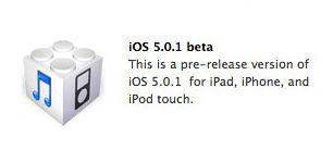 iOS 5.0.1 beta voor het verbeteren van de batterijduur