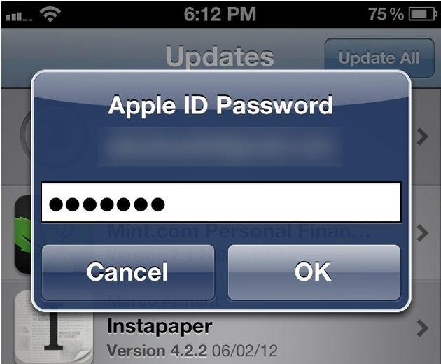 iOS6: geen wachtwoord invullen bij downloaden gratis app