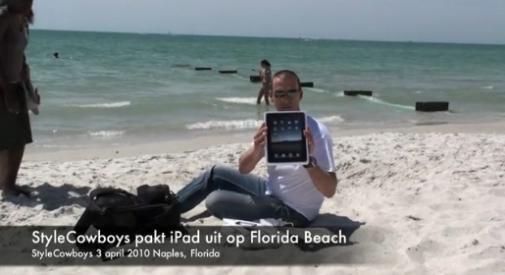 iPad uitpakparty Florida Beach