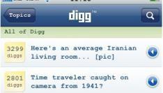 iPhone app Digg nu beschikbaar