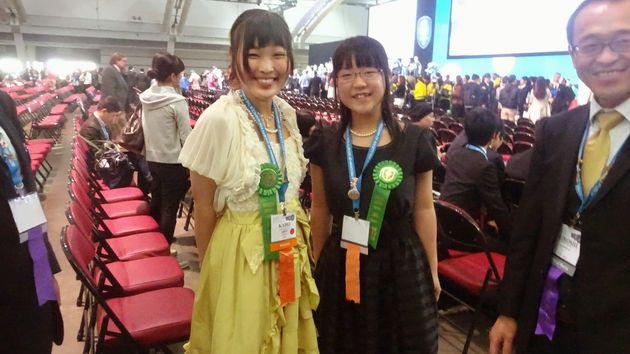 ISEF2015 INTEL Grand Awards Japan Kaho Shigematsu Megumi Nara