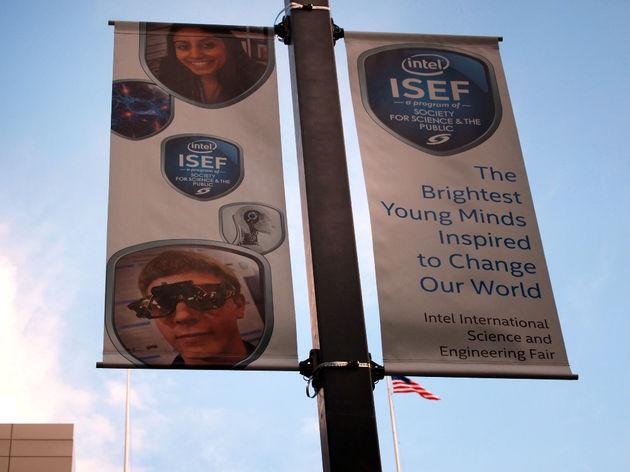 ISEF2015 Intel Pittsburgh banners