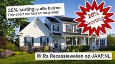 Jaap.nl: 20% korting op alle koophuizen