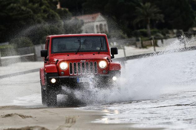 Jeep Harley-Davidson Media Drive water