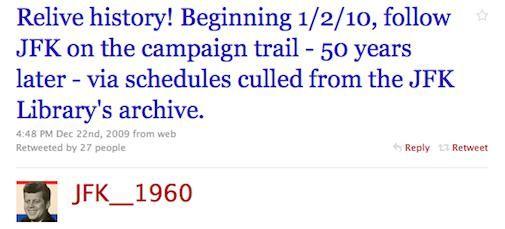 JFK's Campagne uit 1960 Goes Twitter