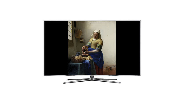 Johannes Vermeer Milk Maid on TV