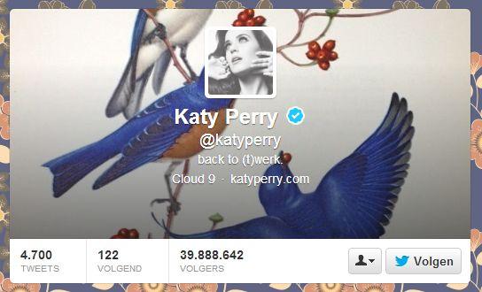 Katy Perry haalt Lady Gaga in op Twitter