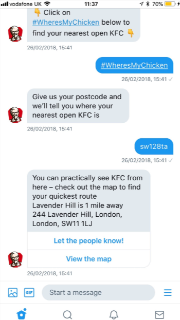 KFC-Screenshot