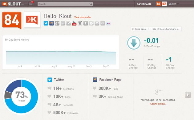 Klout voegt Facebook Pages toe