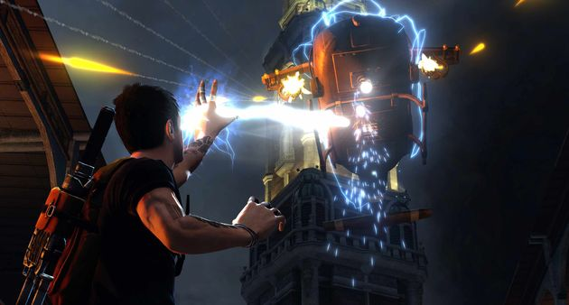 Knetterende inFamous 2 Gameplay