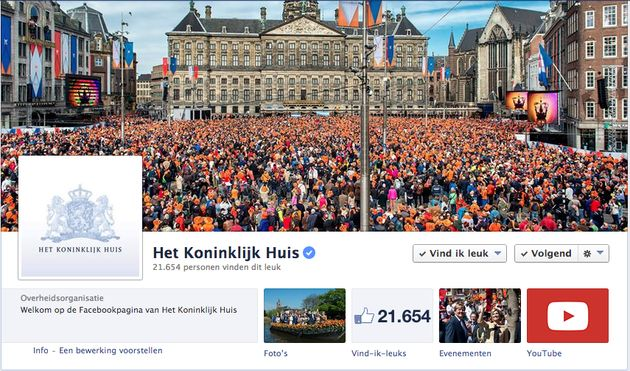 Koninklijke familie lanceert officiële Facebook pagina