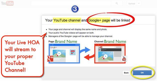 Koppel YouTube kanaal aan Google+ Pagina