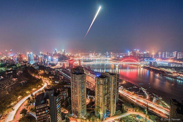 Linar eclipse rose in Chongqing, China