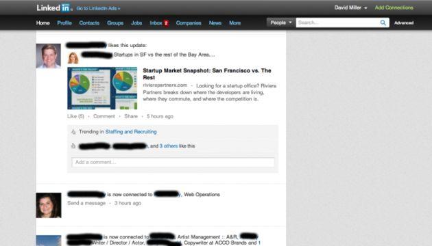 LinkedIn experimenteert met nieuwe layout