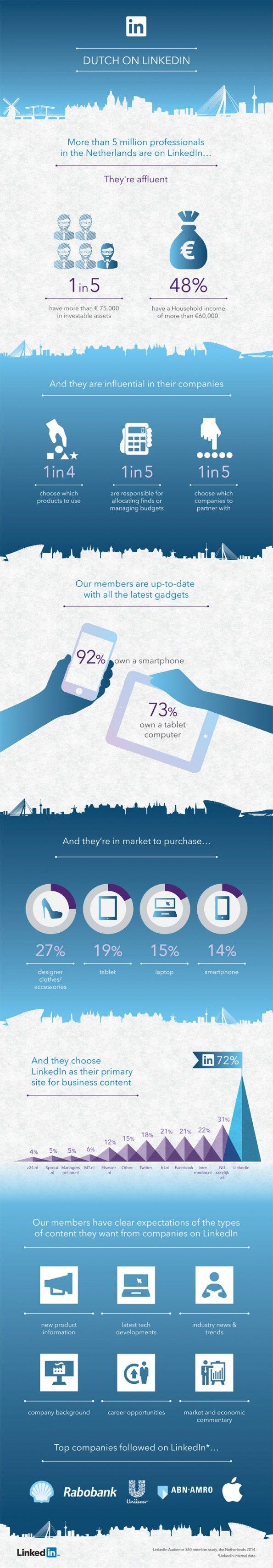 LinkedIn-infographic-nederlandse-gebruikers