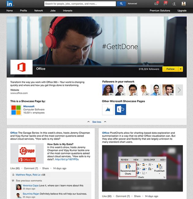 LinkedIn introduceert 'Showcase Pages'