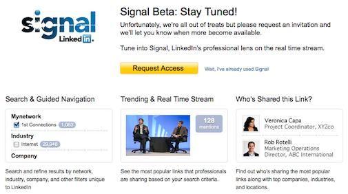 LinkedIn Signal integreert Status updates met Twitter
