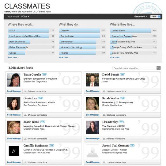 LinkedIn ziet meerwaarde van oude klasgenoten