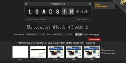 Loads.in : Meet de laadtijd van een website