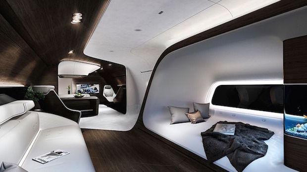 Luxe cabine Mercedes en Lufthansa