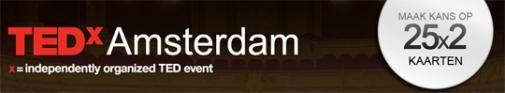Maak kans op 25x2 kaarten voor TEDxAmsterdam via Hyves