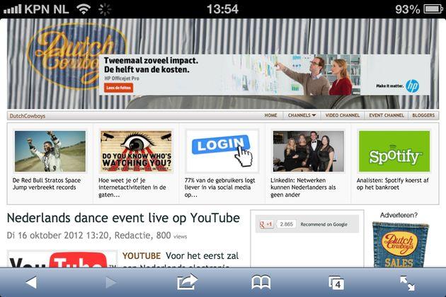 Maar weinig top merken in Nederland hebben een mobiele website