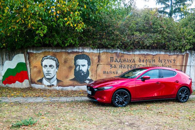 Mazda 3 voor muurschildering