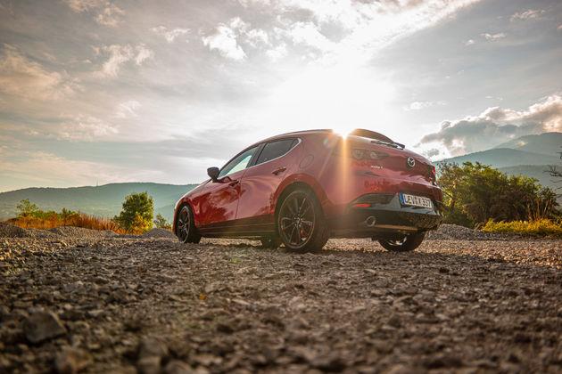 Mazda 3 with SkyActiv motor under the Bulgarian sun