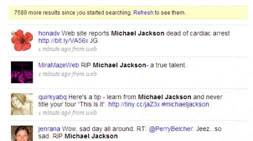 Michael Jackson dood, twitter explodeert