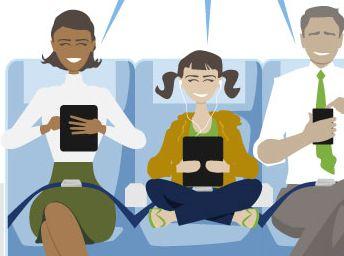 Mobiele devices mogen aan staan tijdens vluchten