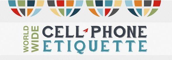 Mobiele telefoon etiquette [infographic]
