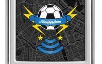 Mobile voetbalgame wedstrijd in centrum van Utrecht
