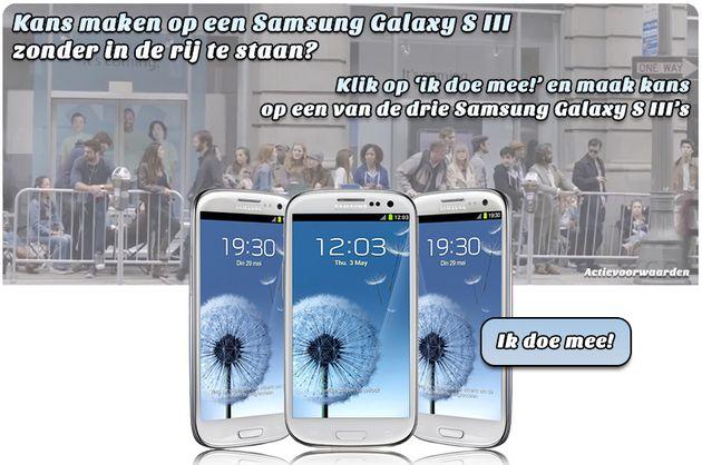 Mobilecowboys geeft 3 Samsung Galaxy S3 smartphones weg via een 'Like&Win' actie