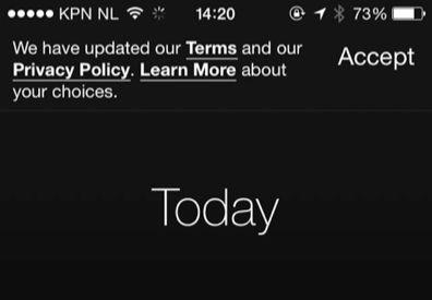 Moves past 'privacy policy' aan om data te delen met Facebook