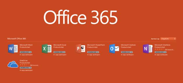 MS Office nu in Mac App Store