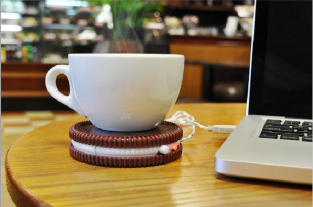 Mustard Hot Cookie USB mok verwarmer