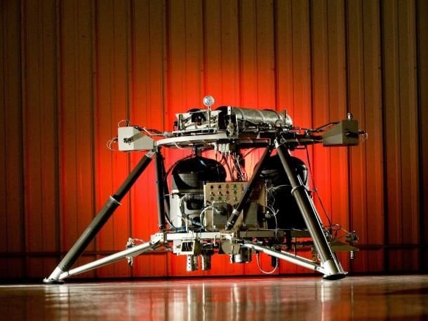 NASA test nieuwe robotlander Mighty Eagle
